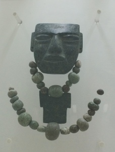 A mask in the style of those from Tehotihuacan found in Xochicalco